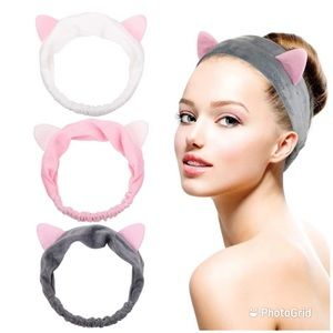 NWT cat ears headband comes in pack of 3